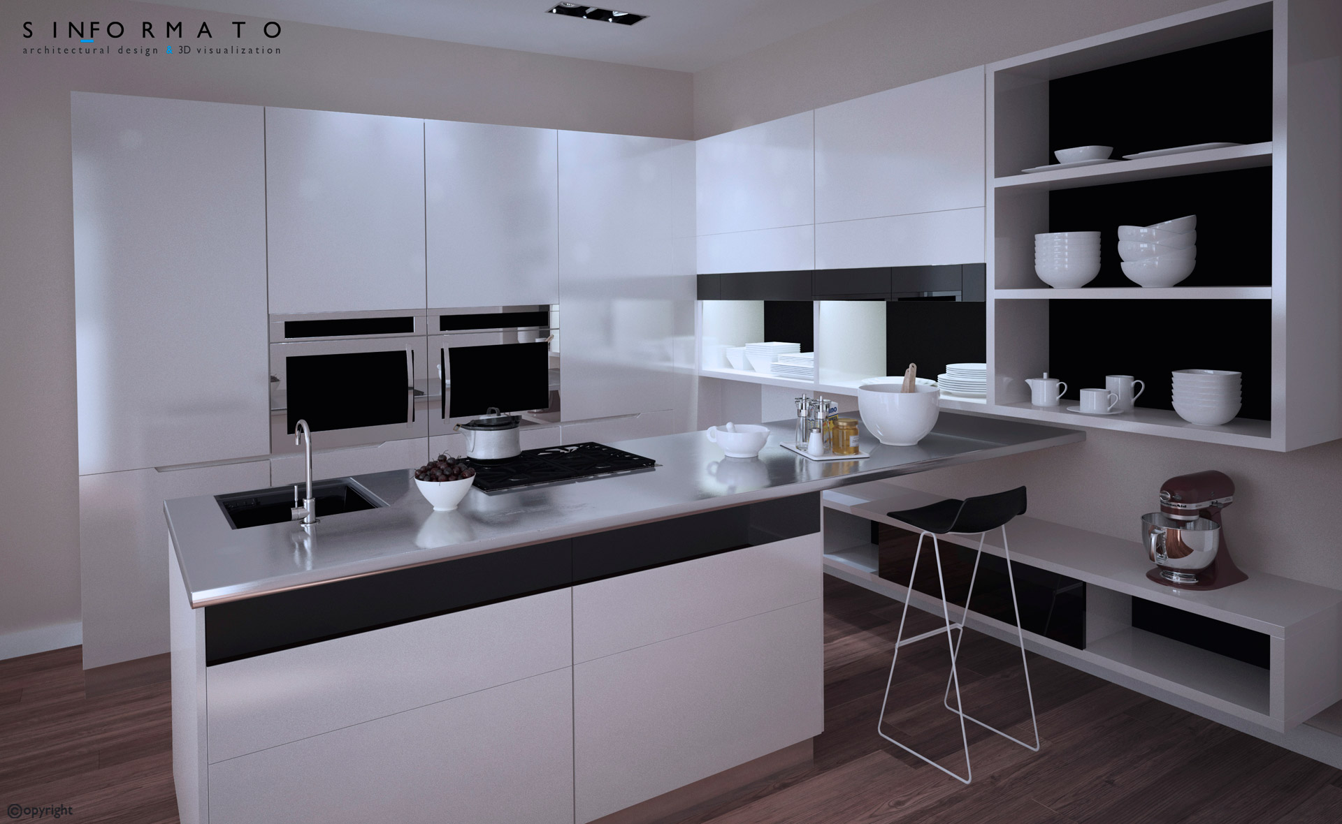 Infograf a cocinas scavolini sin formato - Diseno cocina 3d ...