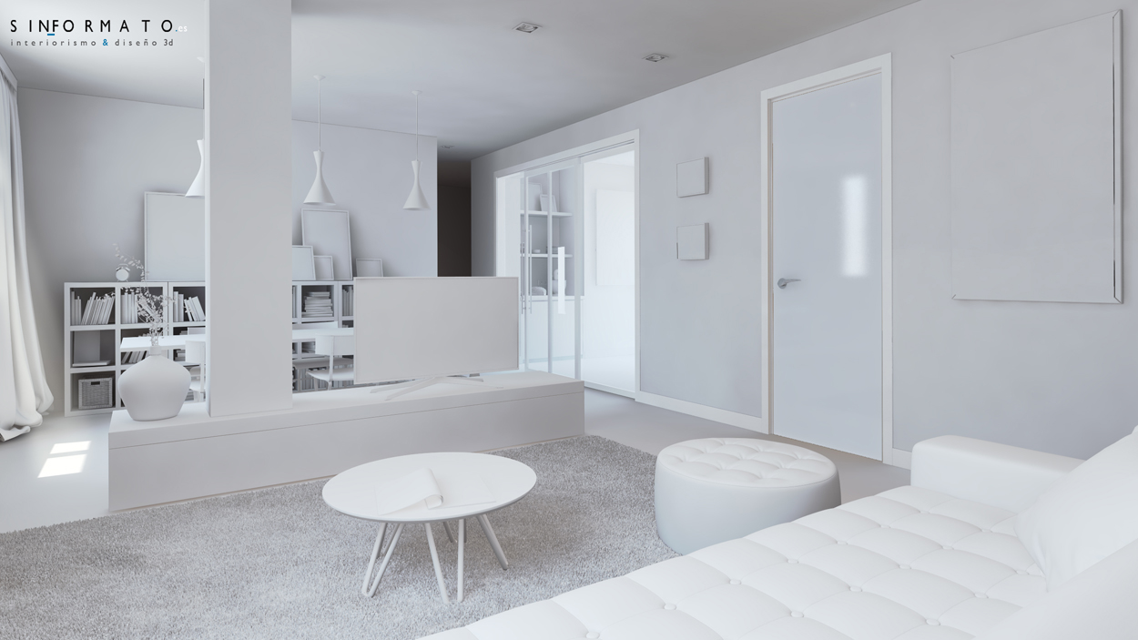 Interiorismo 3d piso calle trinas burgos sin formato - Forma interiorismo ...