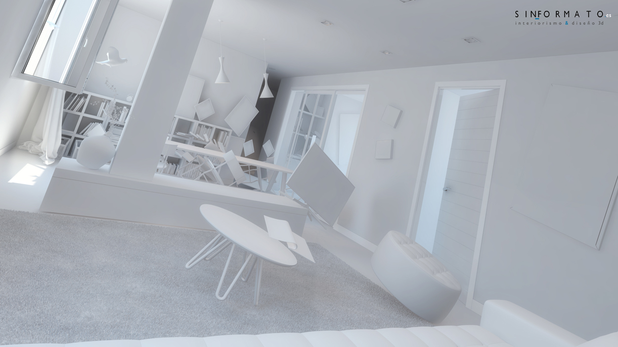 Interiorismo 3d piso calle trinas burgos sin formato - Arquitecto de interiores ...