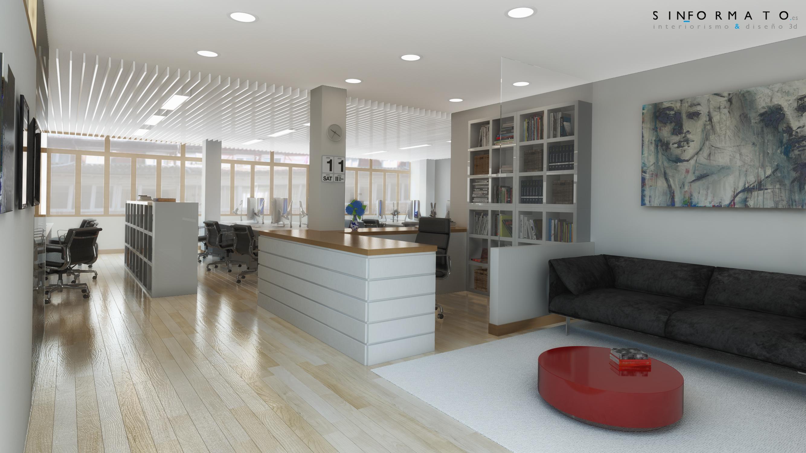 Interiorismo 3d oficinas edinco sin formato for Interiorismo oficinas